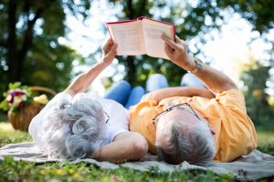 Morristown senior couple reading