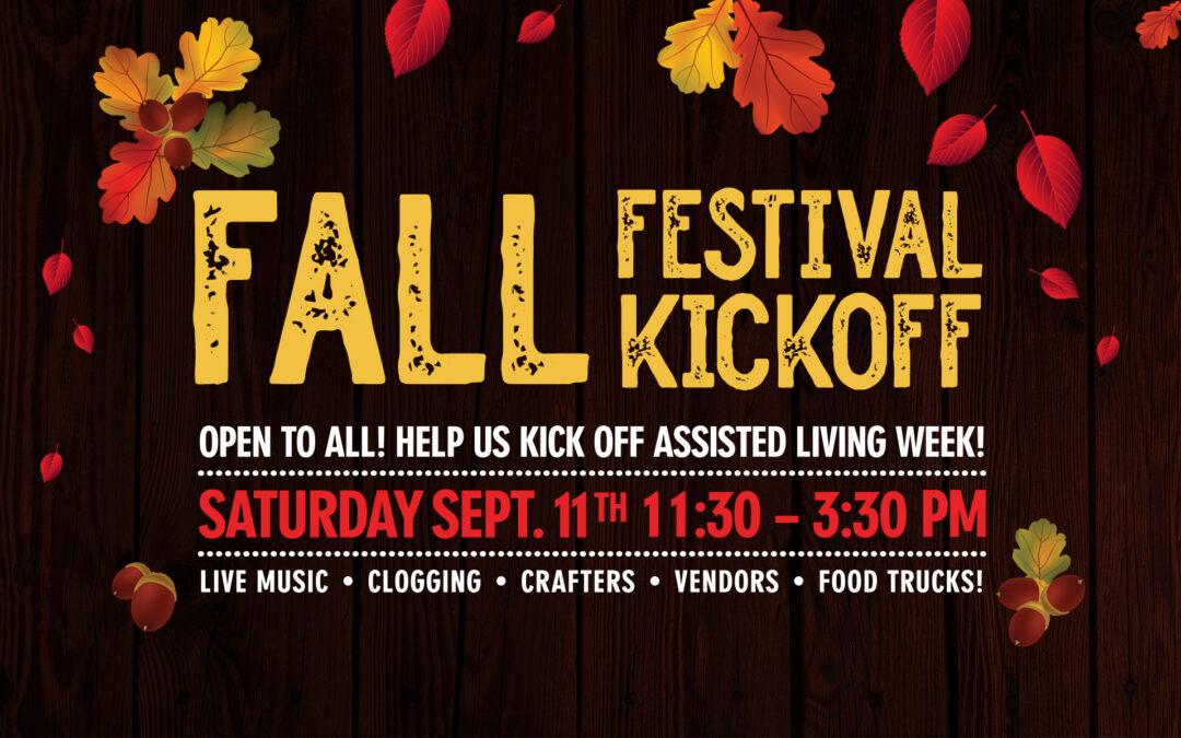 Fall Festival Kickoff